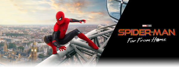 spider man far from home banner-cinefilopigro